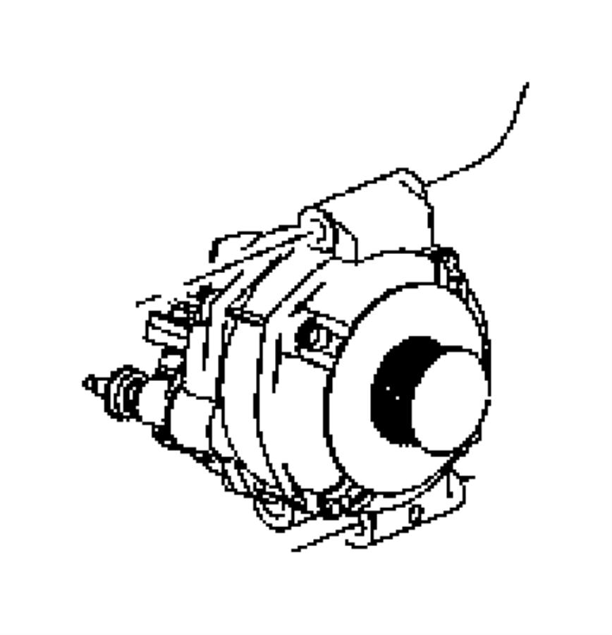 2005 Chrysler 300 Generator. Engine. [140 amp alternator