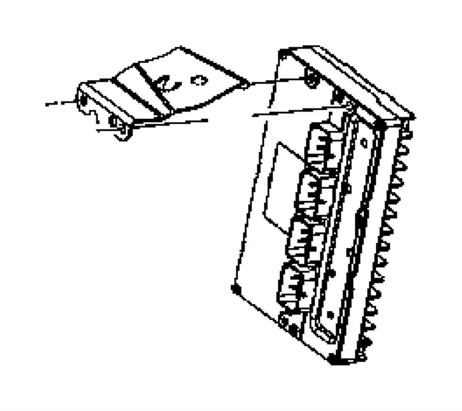 Chrysler 300 Bracket. Powertrain control module. Rhd