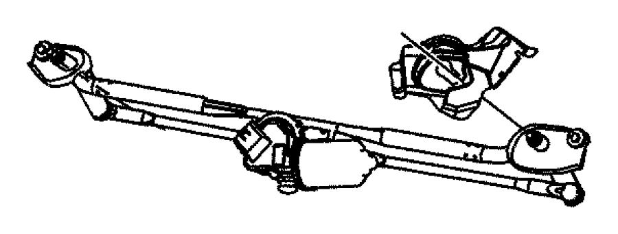 2006 Chrysler 300 Motor kit. Windshield wiper. System