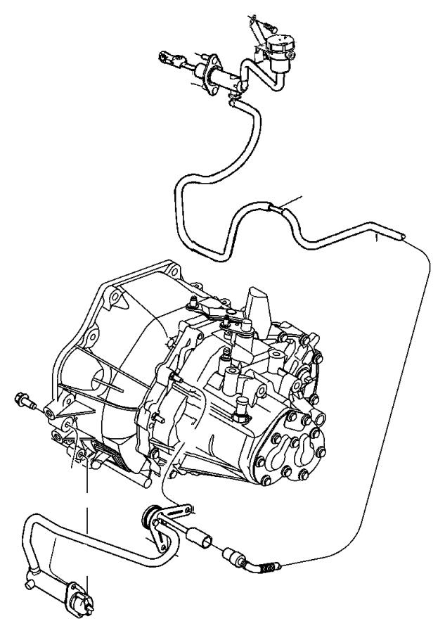 2013 Dodge Dart Actuator. Hydraulic clutch. Transmission