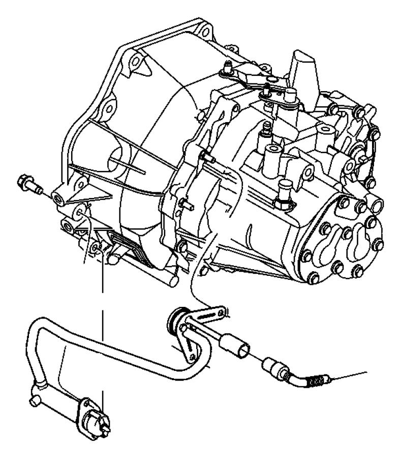 2001 Dodge Neon Actuator. Hydraulic clutch. Clutch master
