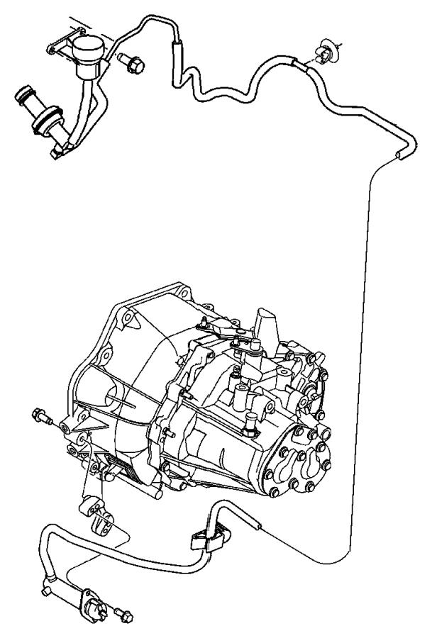 2003 Chrysler PT Cruiser Actuator. Hydraulic clutch