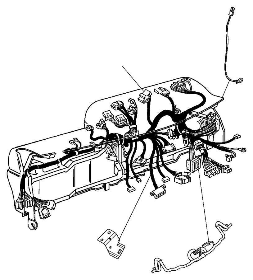 Dodge Dakota Wiring. Steering wheel. Jumper. Trim: [all
