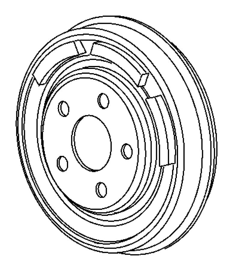 2011 Dodge Challenger Lock nut. Rear spindle. M20-1.50