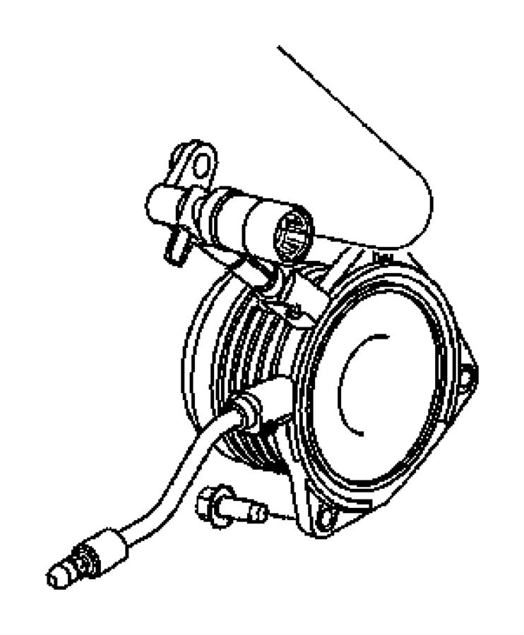 2003 Chrysler PT Cruiser Cylinder. Clutch slave