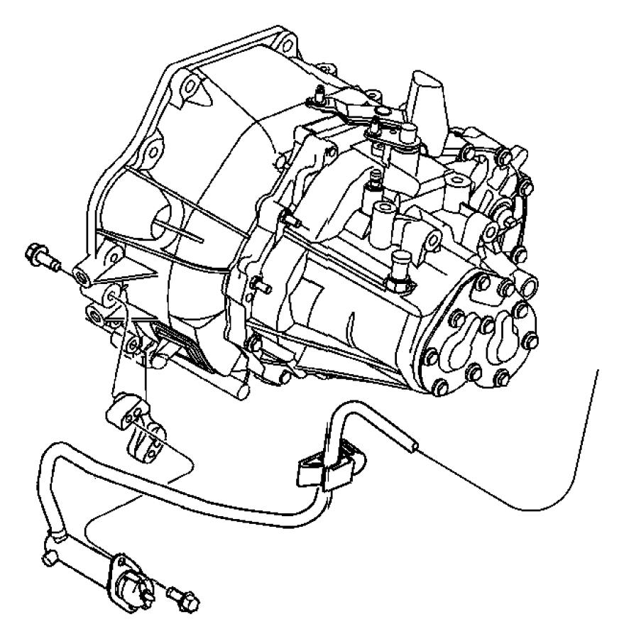 2008 Chrysler PT Cruiser Actuator. Hydraulic clutch. Lhd