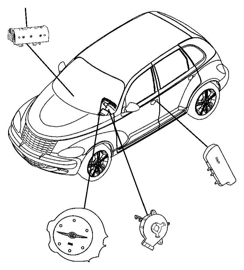 Chrysler PT Cruiser Air bag. Driver. [da]. Trim: [all trim