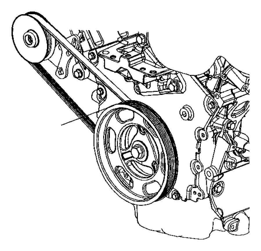 Dodge Stratus Belt. Power steering. Rack, feel, firm