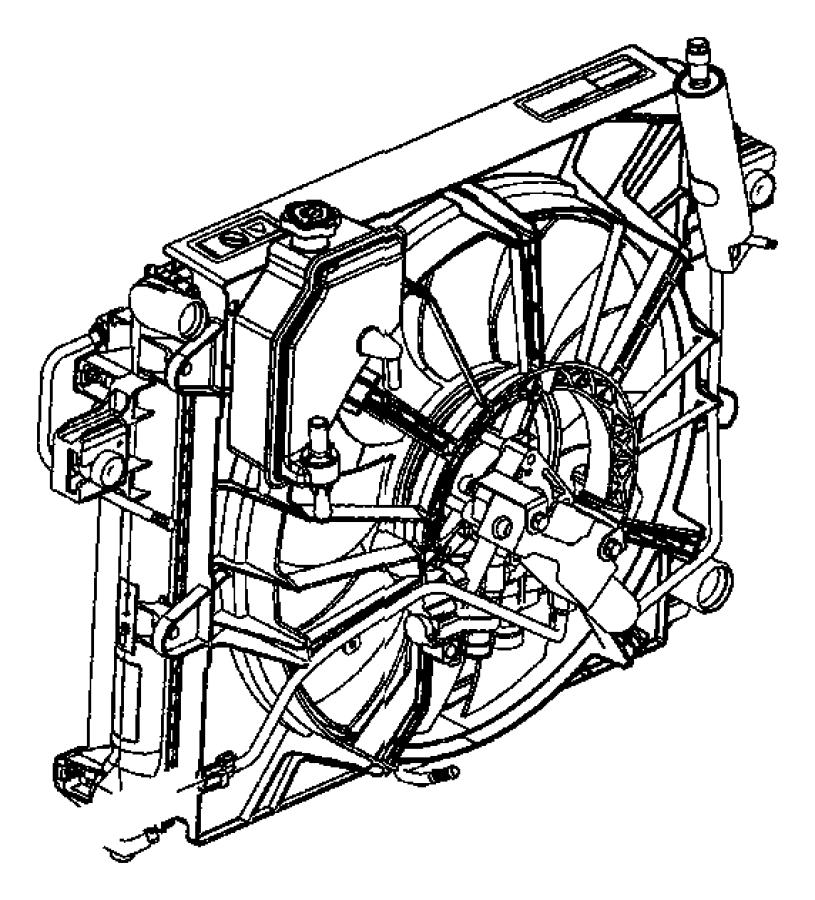 Jeep Grand Cherokee Shroud. Fan. Anaul, electric