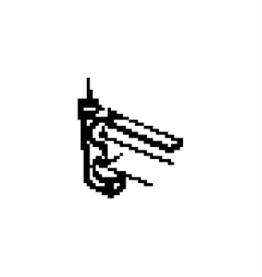 Jeep Wrangler Clip. Cooler lines, oil cooler tube