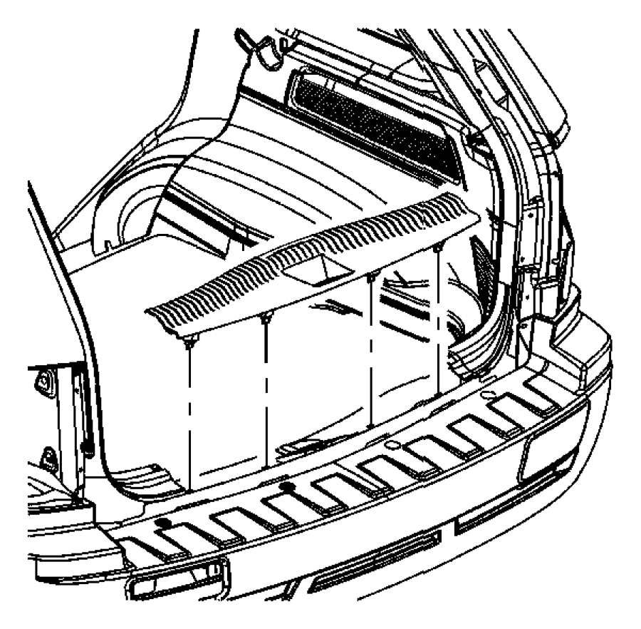 2007 Jeep Grand Cherokee Plate. Liftgate scuff. [j3