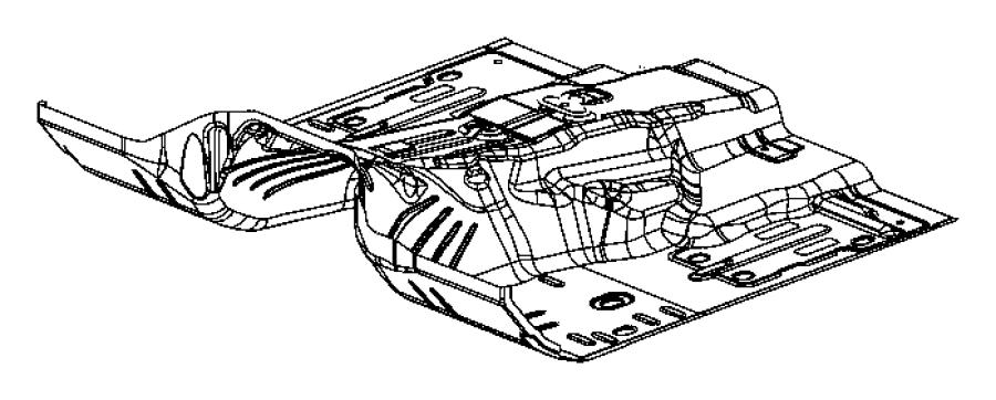 2007 Jeep Commander Pan. Floor. Pans, mopar, front, body