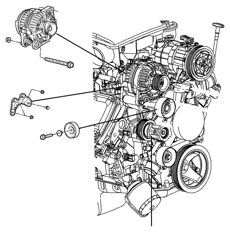 2013 Dodge Dart Generator. Engine. [136 amp alternator