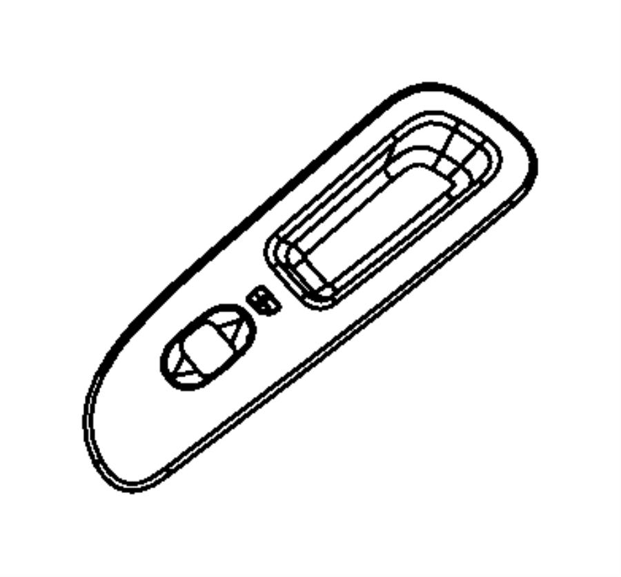 2008 Dodge Ram 1500 Bezel. Power window switch. Right. [d5