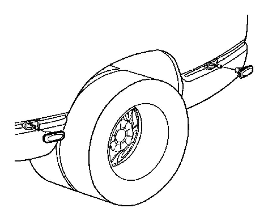 2004 Dodge Ram 1500 Lamp. Fender marker. Rear, lamps