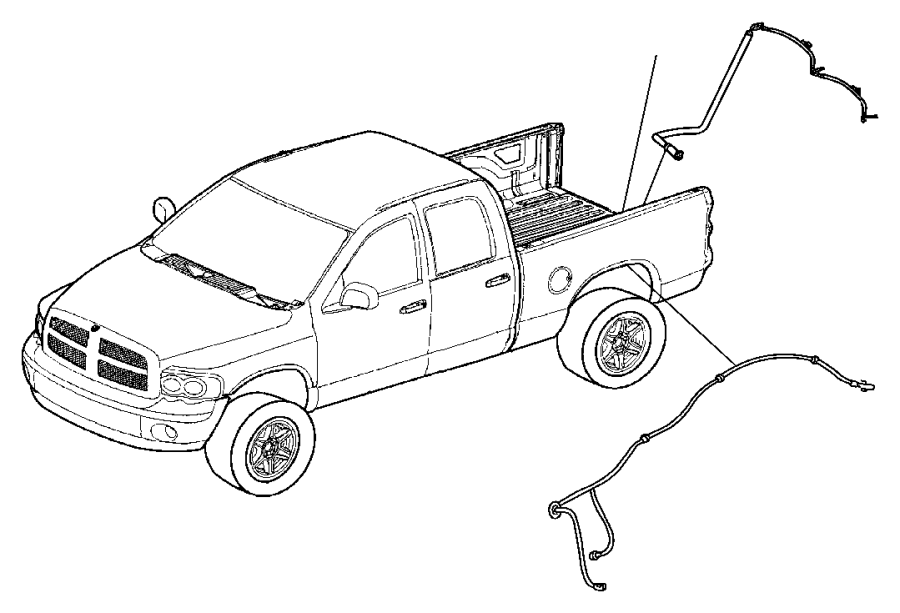 2009 Dodge Ram 3500 Wiring. Fender lamp. [dual rear wheels