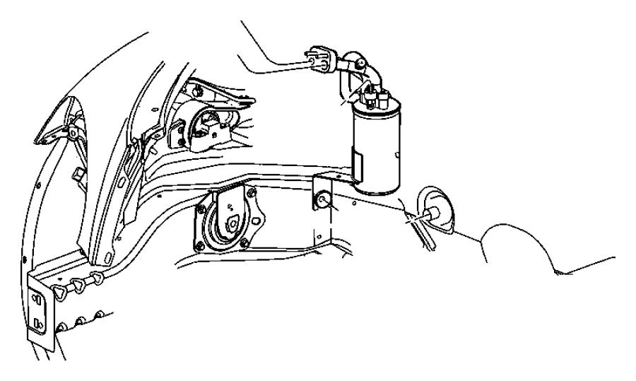 Chrysler PT Cruiser Line. A/c suction. Automatic transaxle