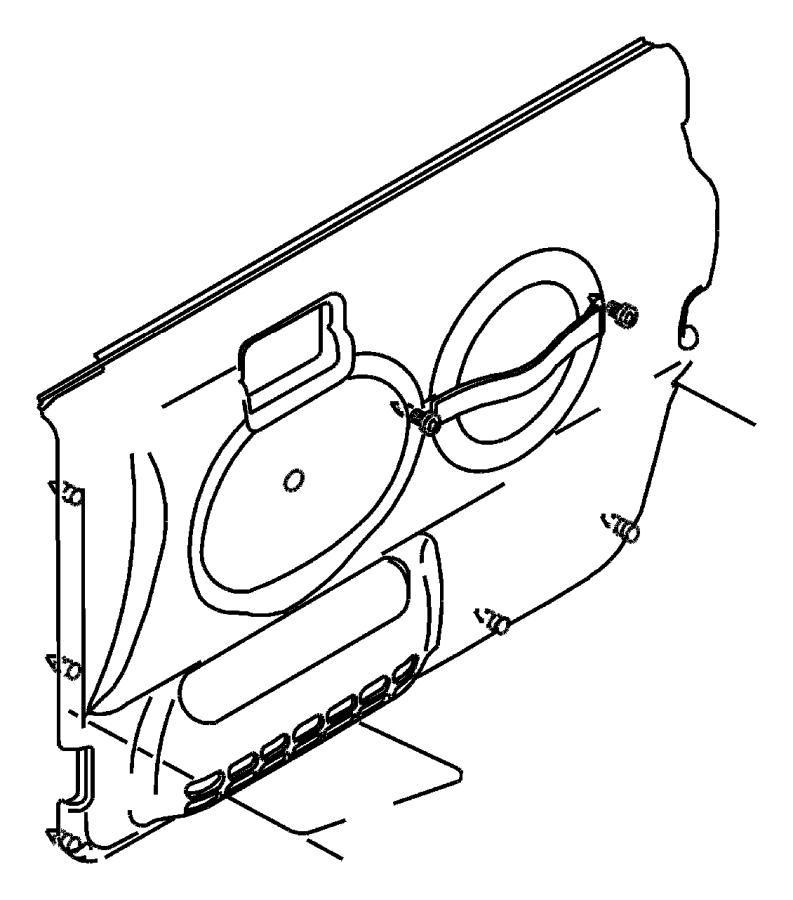 2005 Jeep Wrangler Handle. Door interior. Trim: [all trim
