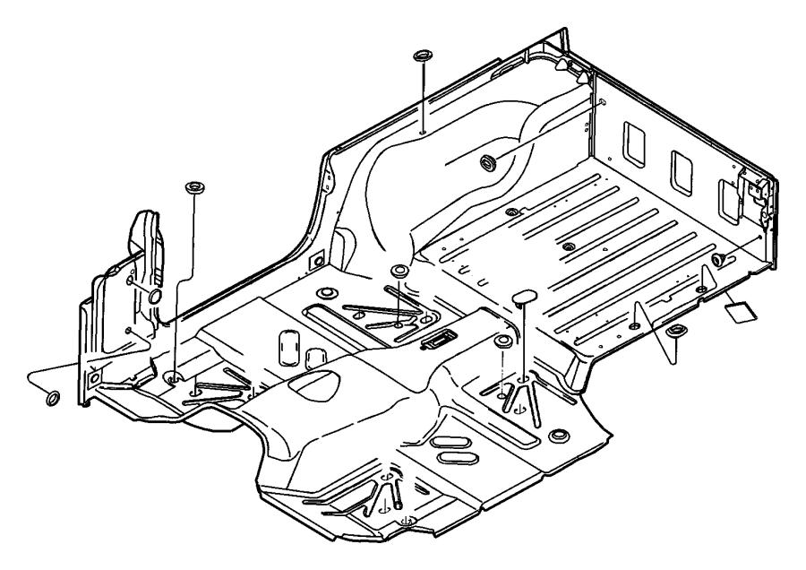 2013 Jeep Grand Cherokee Plug. Floor pan. Rubber. Liftgate