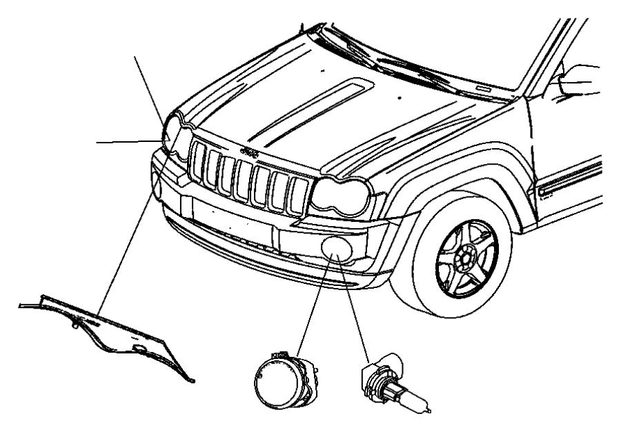 2012 Dodge Durango Wiring. Headlamp. Right or left