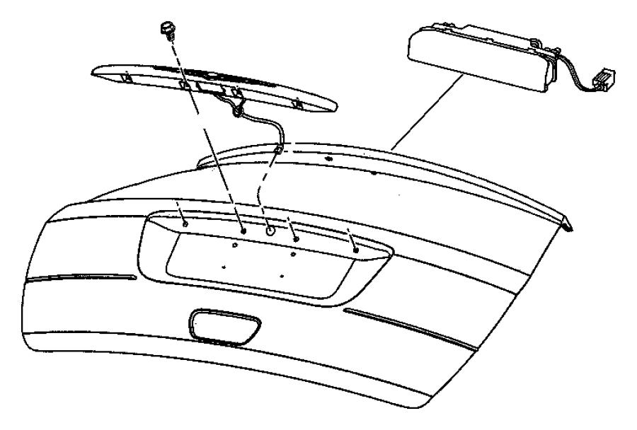 2008 Chrysler Pacifica Lamp. Liftgate chmsl. Spoiler