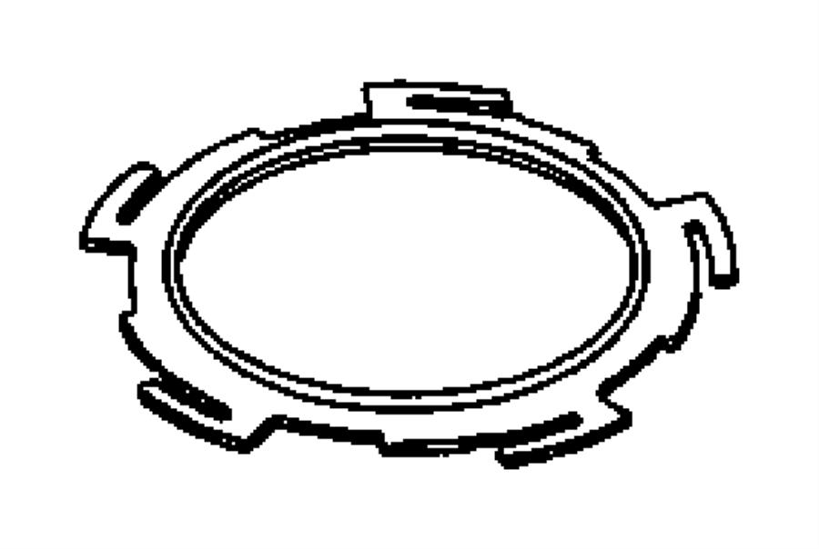 2004 Chrysler Pacifica Cam, nut, ring. Fuel pump module