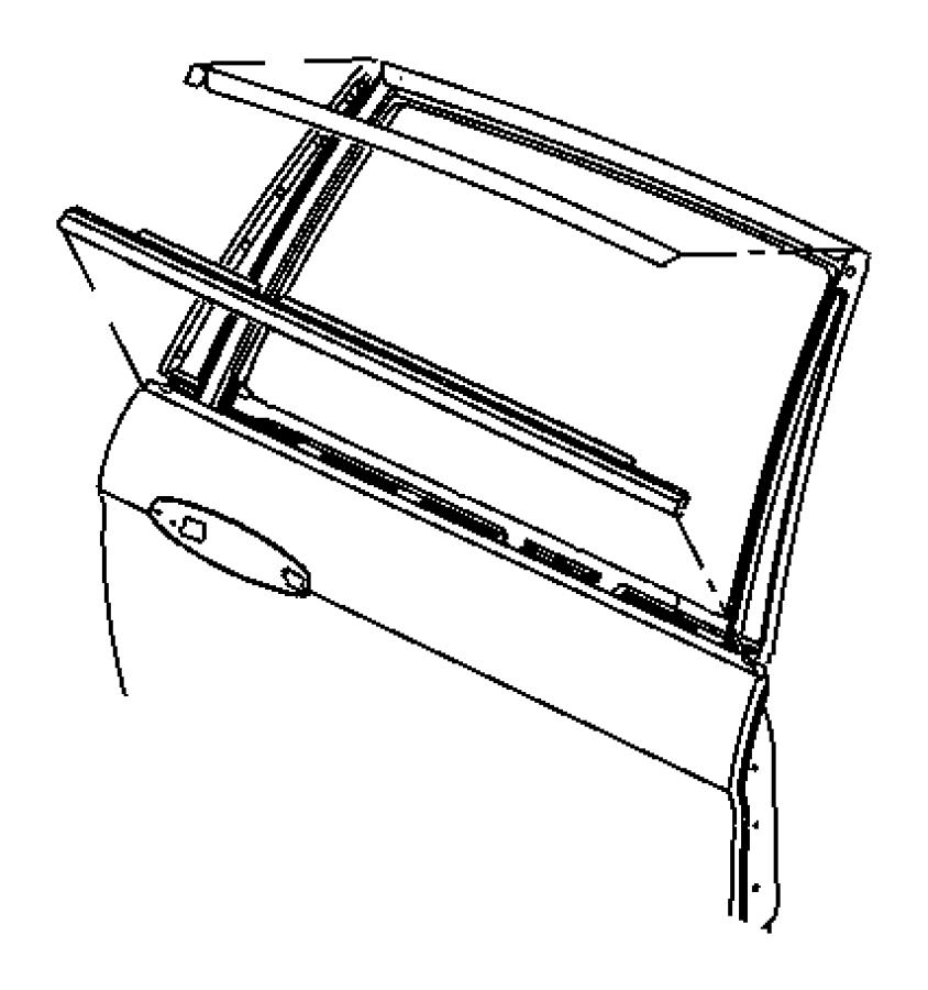 2006 Chrysler Pacifica W/strip. Rear door belt. Chrome