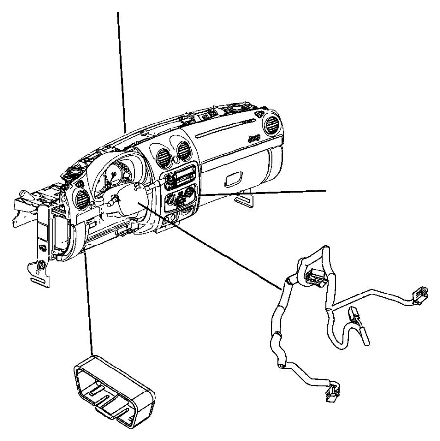 2010 Dodge Grand Caravan Cover. Wiring protector. Export