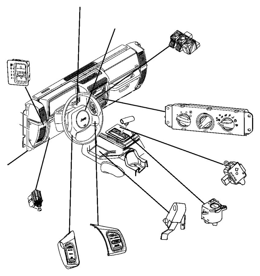 1999 Jeep Wrangler Switch. Clutch starter interlock