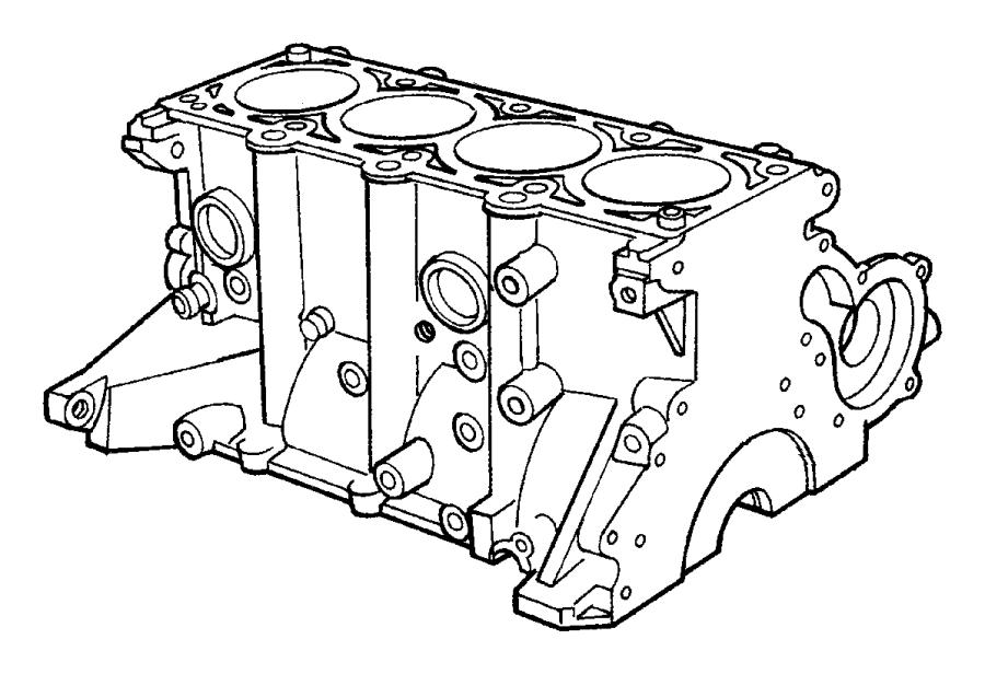2009 Chrysler PT Cruiser Block, engine. Short, short block