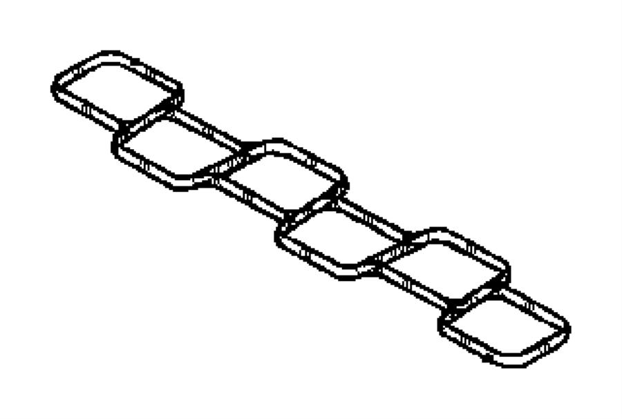 2009 Dodge NITRO Gasket. Intake plenum. Engine, manifold