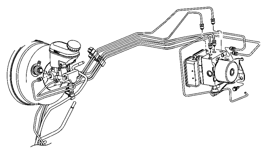 2005 Chrysler PT Cruiser Tube. Brake. Master cylinder to