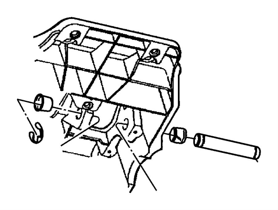 Jeep Wrangler Bushing. Brake pedal, pedal shaft. Dba