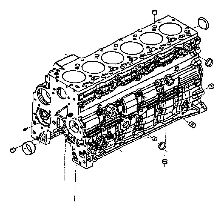 Dodge Ram 2500 Engine. Short block. Emissions