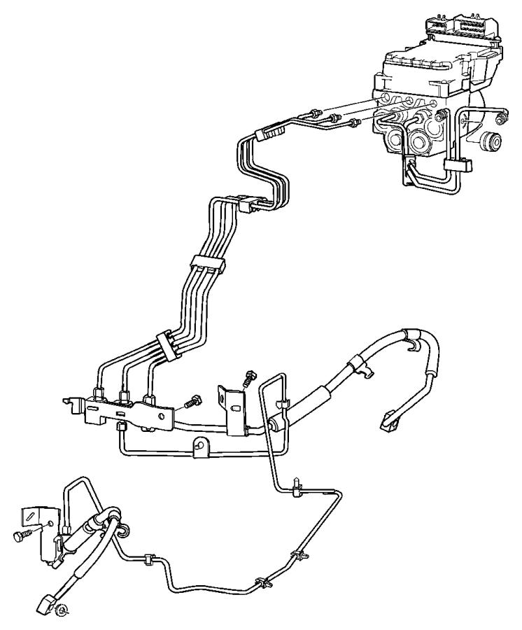 2007 Dodge Ram 2500 Tube. Brake. Secondary. Hcu, master
