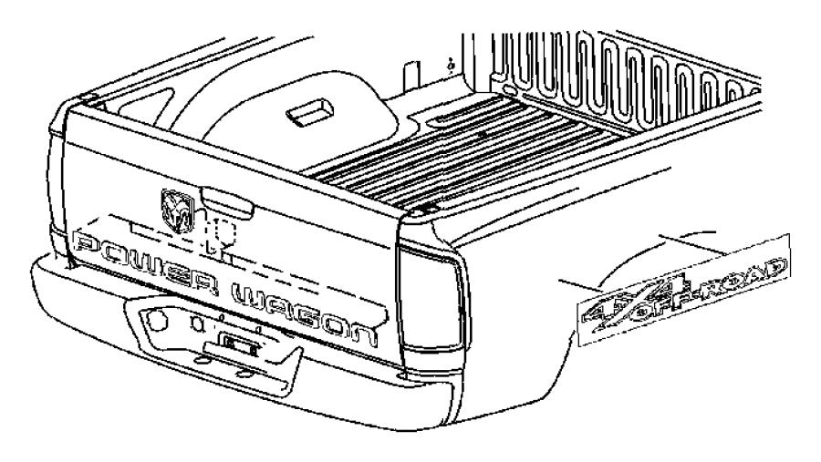 2007 Dodge Ram 3500 Nameplate. Badge, box, mte