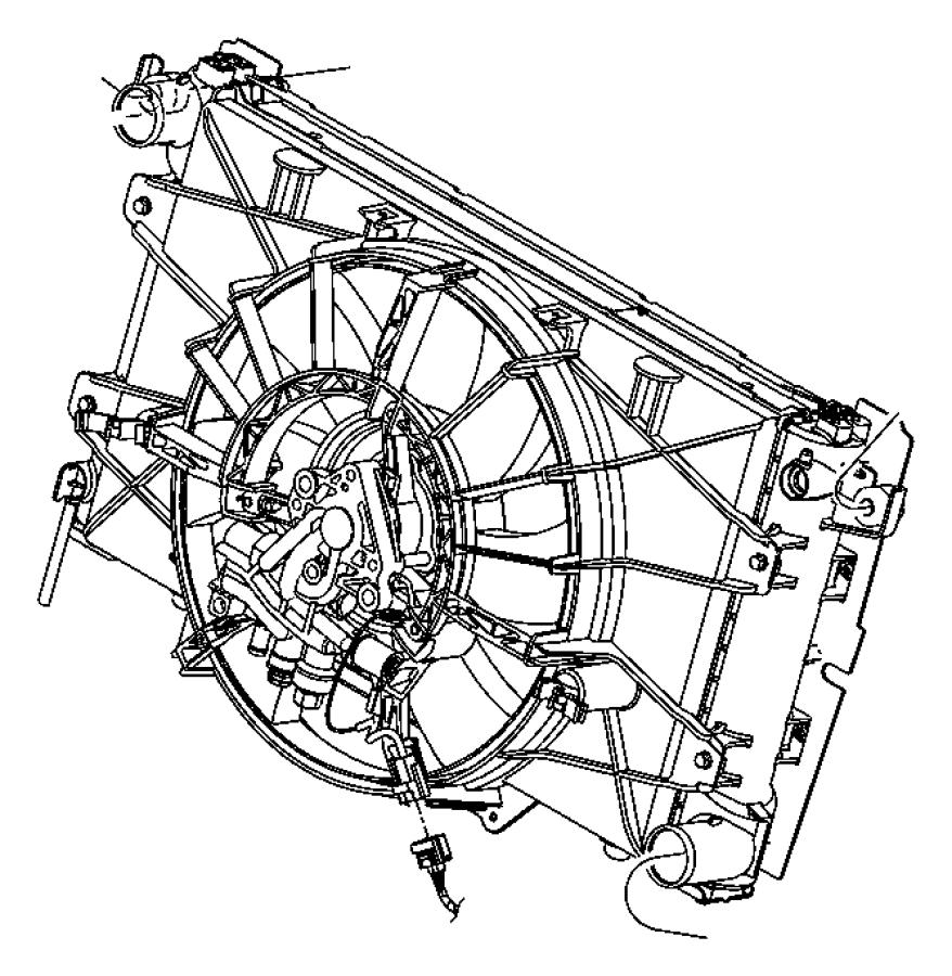 Chrysler Voyager Isolator. Radiator. Lower. Acid