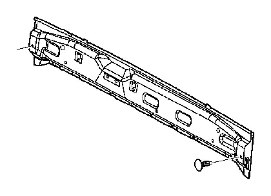 2005 Dodge Ram 3500 Reinforcement. Cab back. Panel, air