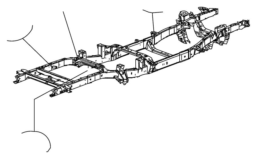 2007 Dodge Ram 1500 Frame. Chassis. Tank, skid, shield