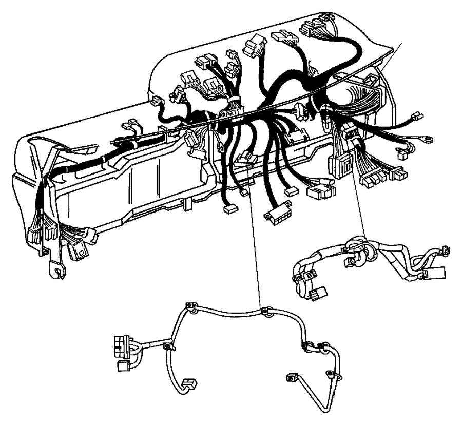 Dodge Dakota Wiring. Steering wheel. Trim: [all trim codes
