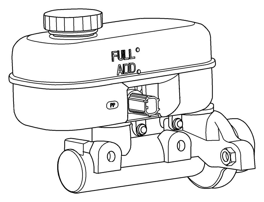 Dodge Durango Reservoir. Brake master cylinder