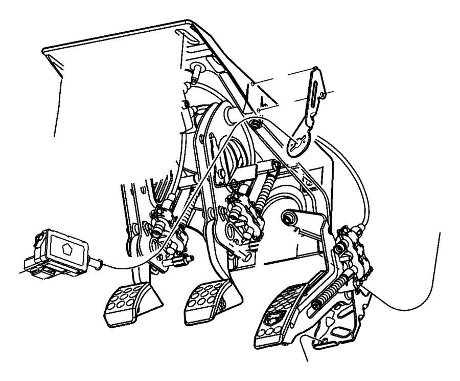 Dodge Viper Pad. Brake pedal. Pedals, clutch, power