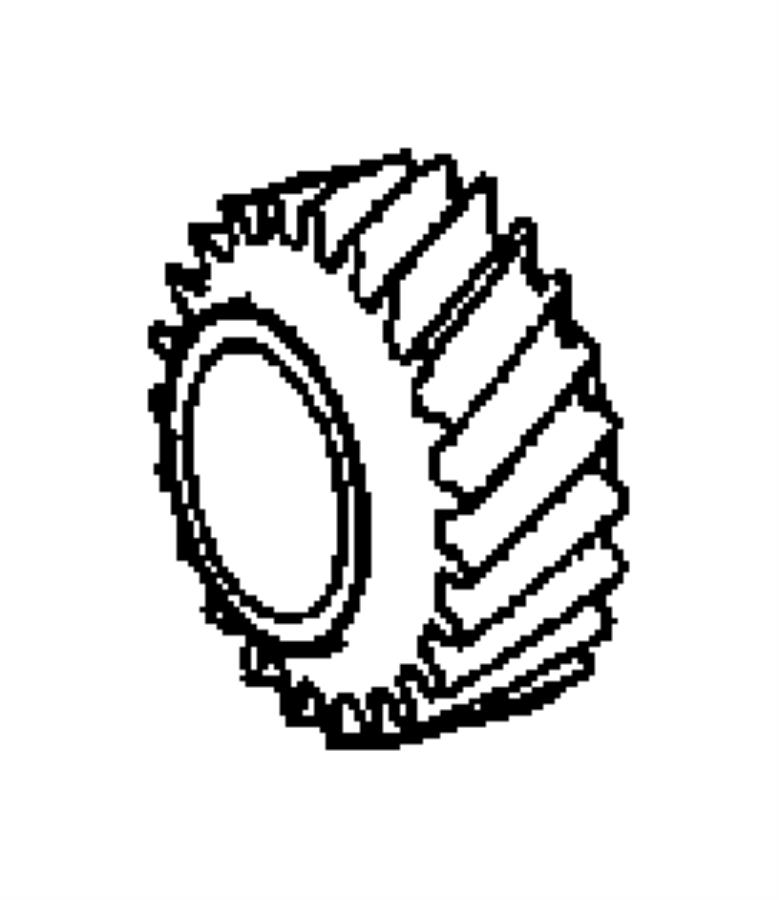 Chrysler Crossfire Gear. Reverse. Case, related, rear