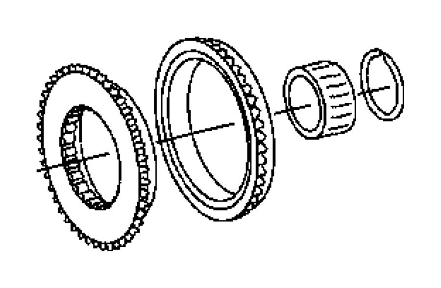 Chrysler Crossfire Ring. Ring-synchronizer. Shaft, main