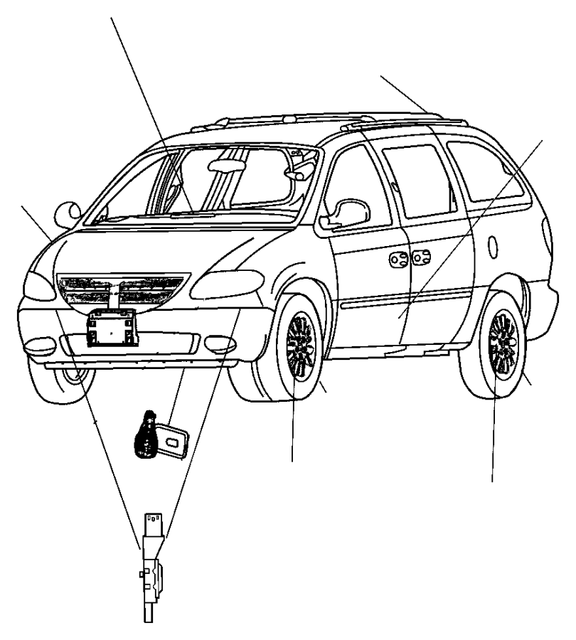 2004 Chrysler Town & Country Used for: SENSOR AND BRACKET