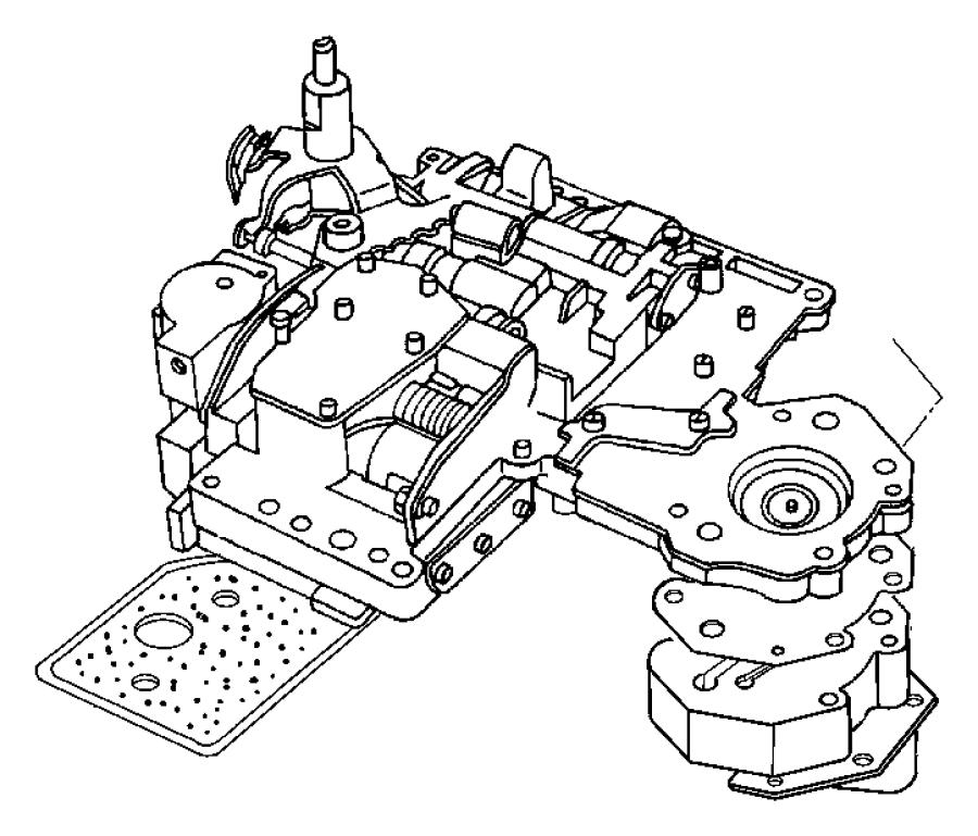 2006 Dodge Ram 2500 Body, lever, valve body. Manual valve