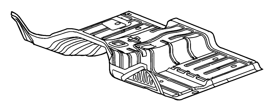 2013 Dodge Ram 1500 Silencer. Floor pan front tunnel