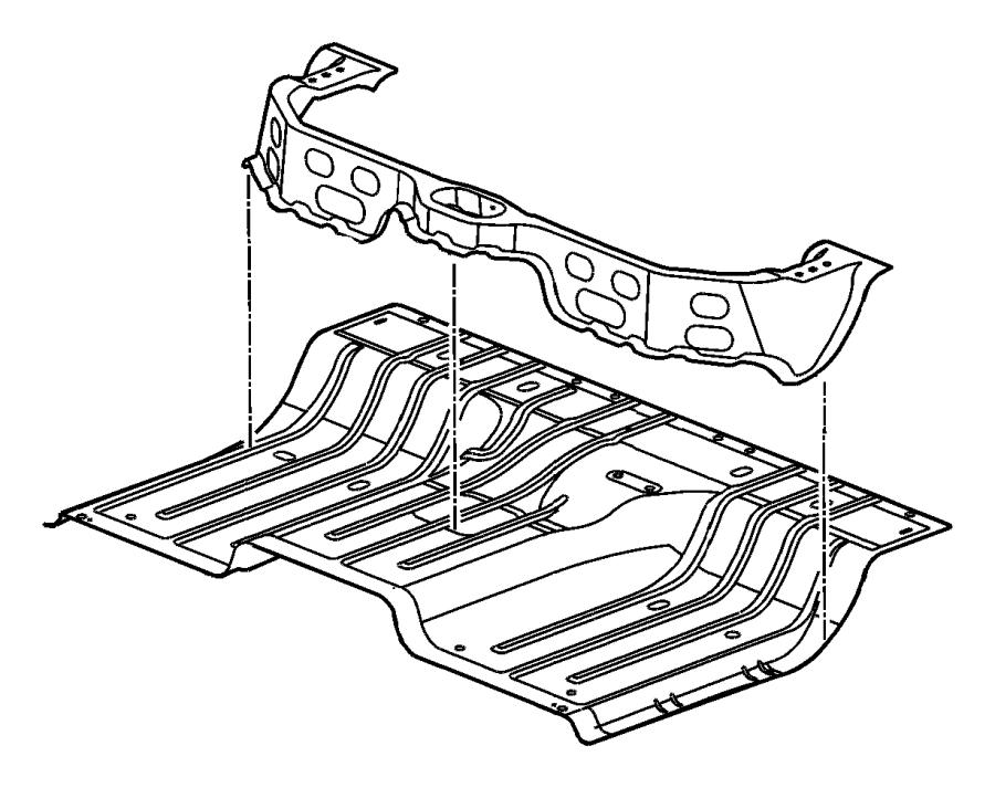 2016 Ram 3500 Silencer. Floor pan. Rear bin, silencer rear