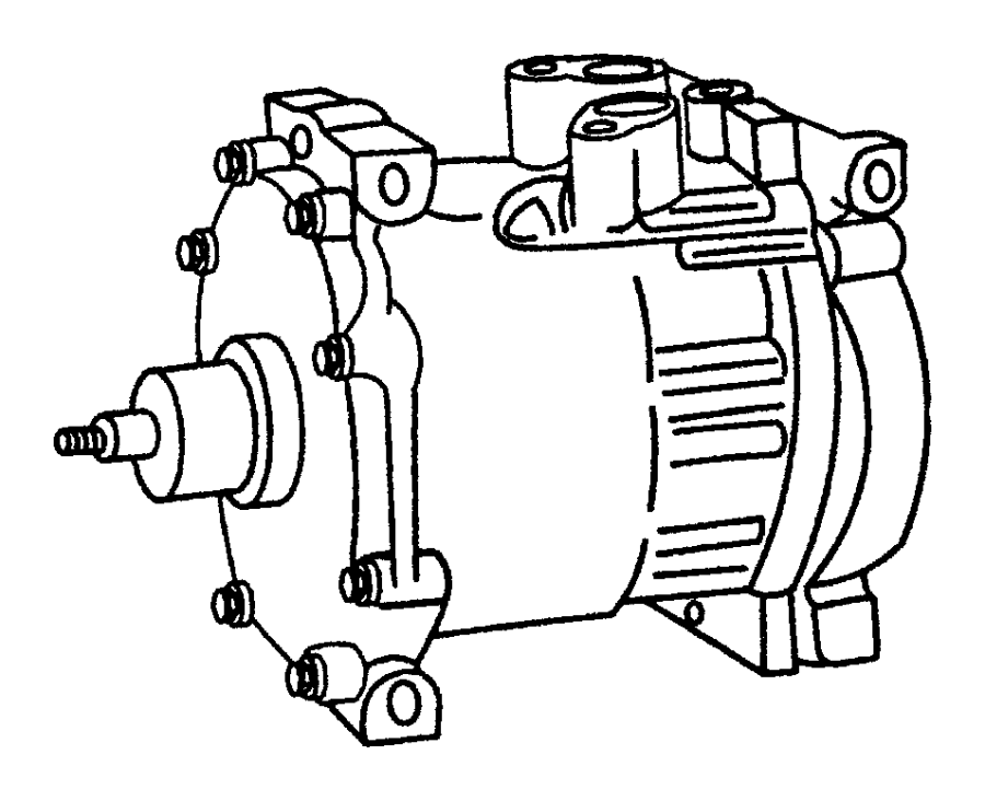Dodge Ram Compressor Air Conditioning Clutch