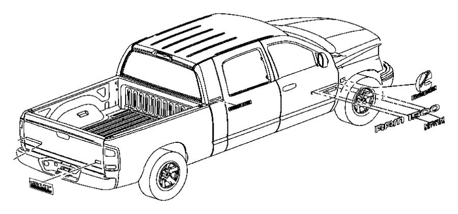 2004 Dodge Ram 1500 Nameplate. Ram 2500. [2500], mexico